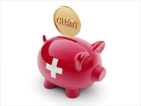 Switzerland High Resolution Charity Concept High Resolution Piggy Concept photo