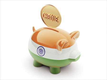engravings: India High Resolution Cheque Concept High Resolution Piggy Concept