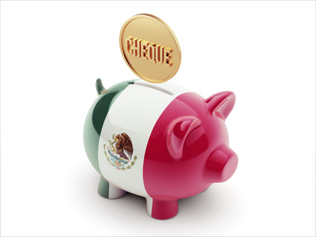 engravings: Mexico  High Resolution Cheque Concept High Resolution Piggy Concept