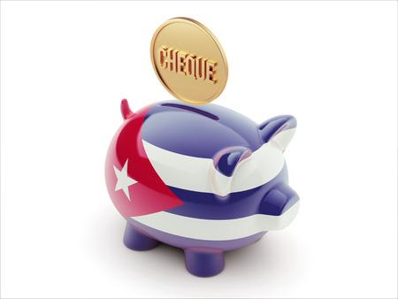 engravings: Cuba High Resolution Cheque Concept High Resolution Piggy Concept Stock Photo