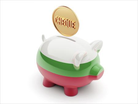 engravings: Bulgaria High Resolution Cheque Concept High Resolution Piggy Concept