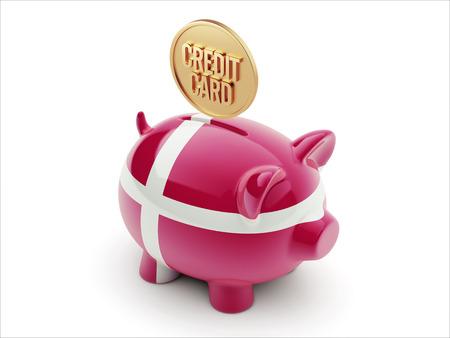 Denmark High Resolution Credit Card Concept High Resolution Piggy Concept photo