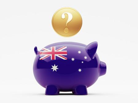 australian money: Australia High Resolution Question Mark Concept