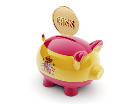 Spain High Resolution Crisis Concept High Resolution Piggy Concept photo