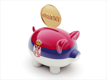 Serbia High Resolution Currency Concept High Resolution Piggy Concept photo
