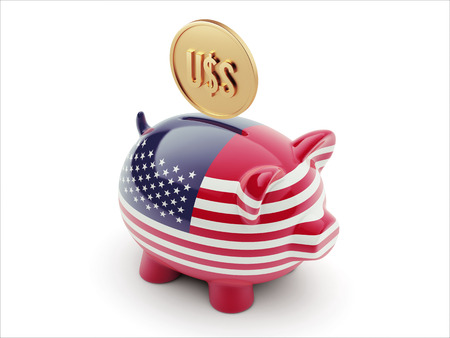United States High Resolution Dollar Sign Concept High Resolution Piggy Concept photo