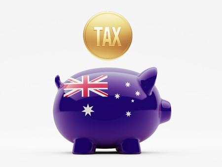australian money: Australia High Resolution Tax Concept