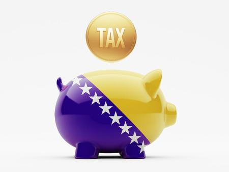 herzegovina: Bosnia and Herzegovina  High Resolution Tax Concept