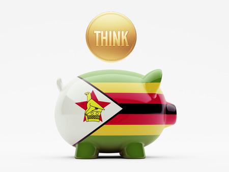 zimbabwe: Zimbabwe High Resolution Think Concept