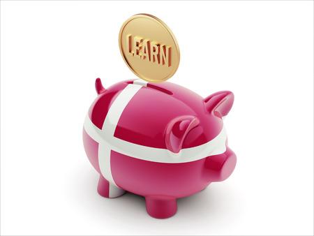Denmark High Resolution Learn Concept High Resolution Piggy Concept photo