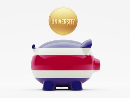 costa rican flag: Costa Rica  High Resolution University Concept Stock Photo