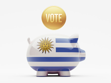 Uruguay High Resolution Vote Concept Stock Photo