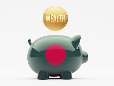 Bangladesh High Resolution Wealth Concept