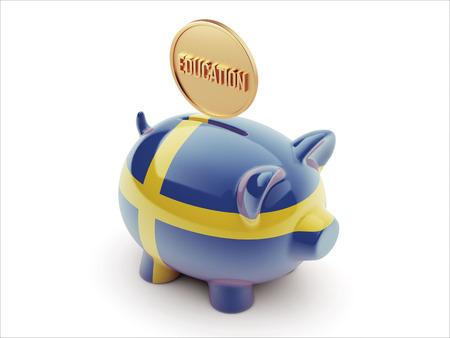 education in sweden: Sweden High Resolution Education Concept High Resolution Piggy Concept