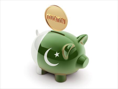 graduate asian: Pakistan High Resolution Education Concept High Resolution Piggy Concept Stock Photo