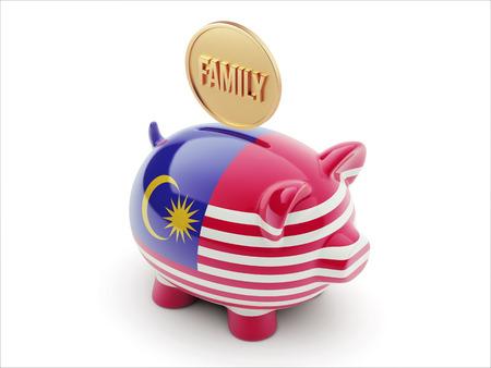 Malaysia High Resolution Family Concept High Resolution Piggy Concept photo