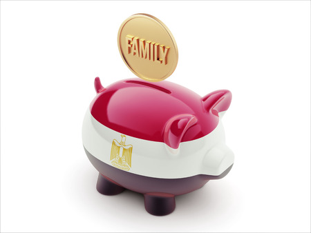 Egypt High Resolution Family Concept High Resolution Piggy Concept photo