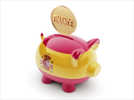 Spain High Resolution Finance Concept High Resolution Piggy Concept photo