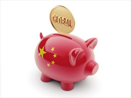China High Resolution Global Concept High Resolution Piggy Concept photo