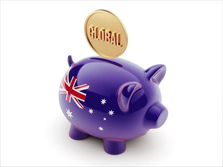 australian money: Australia High Resolution Global Concept High Resolution Piggy Concept Stock Photo
