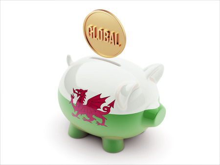 Wales High Resolution Global Concept High Resolution Piggy Concept photo