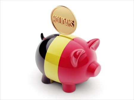 Belgium High Resolution Holidays Concept High Resolution Piggy Concept