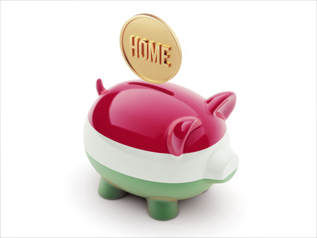 owner money: Hungary High Resolution Home Concept High Resolution Piggy Concept Stock Photo