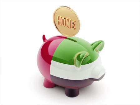 owner money: United Arab Emirates  High Resolution Home Concept High Resolution Piggy Concept