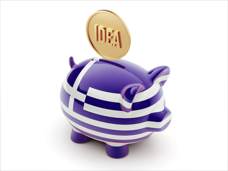 Greece High Resolution Idea Concept High Resolution Piggy Concept photo