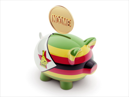 Zimbabwe High Resolution Income Concept High Resolution Piggy Concept photo