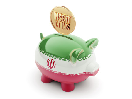 Iran High Resolution Insert Coins Concept High Resolution Piggy Concept photo