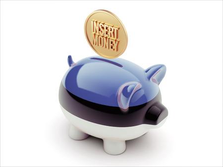 estonian: Estonia High Resolution Insert Money Concept High Resolution Piggy Concept