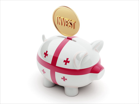 strategist: Georgia High Resolution Invest Concept High Resolution Piggy Concept Stock Photo
