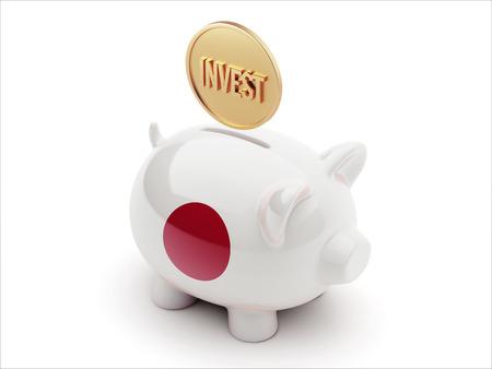 Japan High Resolution Invest Concept High Resolution Piggy Concept