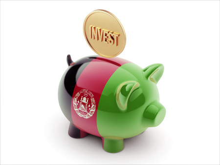 strategist: Afghanistan  High Resolution Invest Concept High Resolution Piggy Concept Stock Photo
