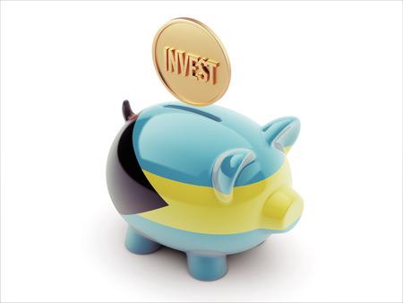 strategist: Bahamas  High Resolution Invest Concept High Resolution Piggy Concept