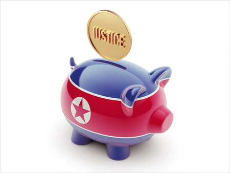 North Korea High Resolution Justice Concept High Resolution Piggy Concept photo