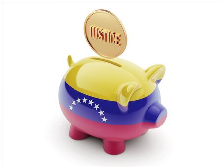Venezuela High Resolution Justice Concept High Resolution Piggy Concept photo