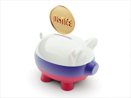 Russia High Resolution Justice Concept High Resolution Piggy Concept photo