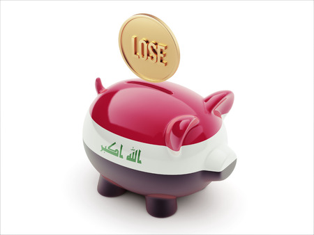 iraq money: Iraq High Resolution Lose Concept High Resolution Piggy Concept
