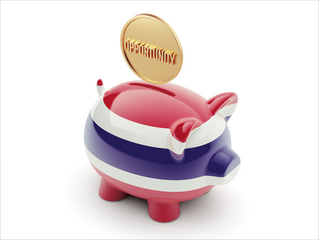 Thailand High Resolution Opportunity Concept High Resolution Piggy Concept Stock Photo