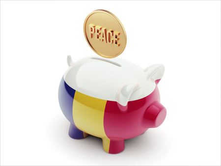 pacifist: Romania High Resolution Peace Concept High Resolution Piggy Concept Stock Photo
