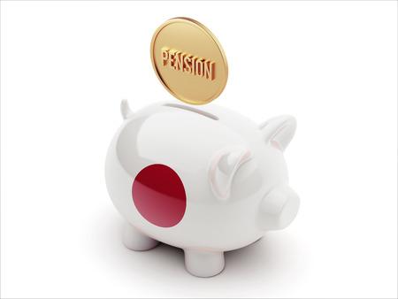Japan High Resolution Pension Concept High Resolution Piggy Concept photo