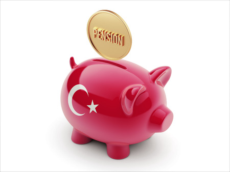 Turkey High Resolution Pension Concept High Resolution Piggy Concept photo