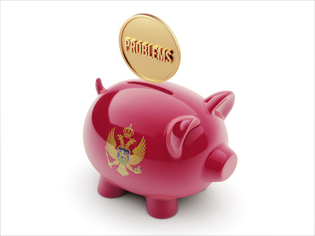 rectify: Montenegro  High Resolution Problems Concept High Resolution Piggy Concept Stock Photo