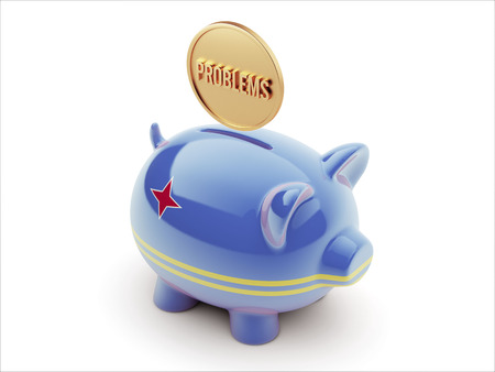 rectify: Aruba High Resolution Problems Concept High Resolution Piggy Concept Stock Photo