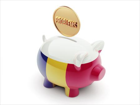 rectify: Romania ad alta risoluzione dei problemi Concetto ad alta risoluzione Piggy Concetto Archivio Fotografico
