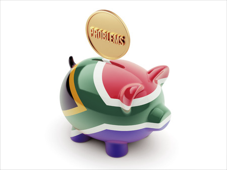 inaccurate: South Africa High Resolution Problems Concept High Resolution Piggy Concept Stock Photo