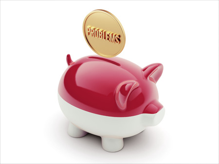 rectify: Indonesia High Resolution Problems Concept High Resolution Piggy Concept Stock Photo