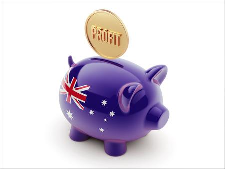 australian money: Australia High Resolution Profit Concept High Resolution Piggy Concept